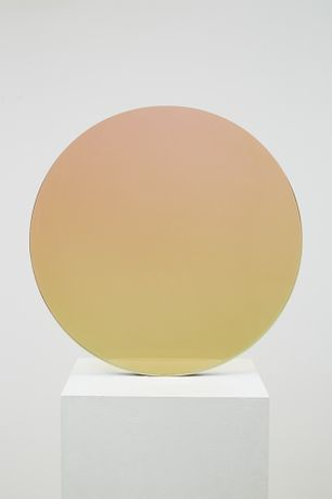 Circle, Sepia to Rose, DeWain Valentine, 1970, Cast Polyester Resin, 47.7 cm diameter, © DeWain Valentine, image courtesy of Gazelli Art House.