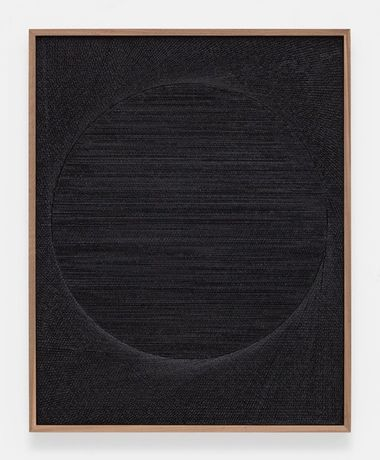 Untitled (Etched Plaster) Anthony Pearson, 2015, Medium coated pigmented hydrocal in walnut frame, 124.5 x 99.1 x 6.4cm, © Anthony Pearson, image courtesy of Gazelli Art House.