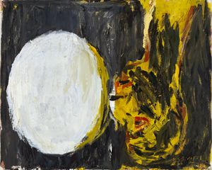Georg Baselitz, Blick aus dem Fenster [View out of the Window], 1982. Oil on canvas. 130 x 162 cm (51,18 x 63,78 in). Private collectio