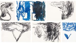 Georg Baselitz - Drawings for his series of Strandbilder