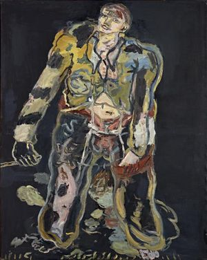 Georg Baselitz Rebel (Rebell), 1965 Oil on canvas 162 x 130 cm Tate: Purchased 1982, London © Georg Baselitz, 2017 Photo: Friedrich Rosenstiel, Cologne