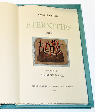 Eternities 2009, Edition 13/30, Charles Simić and George Nama,  Etching on Arches Vellum paper