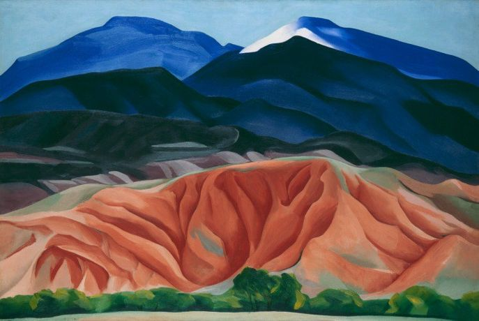 Georgia O'Keeffe Black Mesa Landscape, New Mexico / Out Back of Marie's II 1930