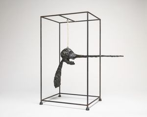 Alberto Giacometti, Nose (Le nez), 1947 (cast 1949). Bronze, wire, rope, and steel, 81 x 71.4 x 39.4 cm. Solomon R. Guggenheim Museum, New York, 66.1807. © 2017 Artists Rights Society (ARS), New York/ADAGP/FAAG, Paris