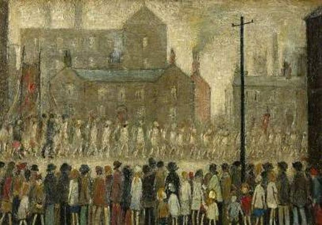 LS Lowry (1887-1976)  A Procession, undated.  Bequeathed by Anthony Carlisle through the Art Fund, 1993