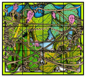 Gilbert & George, TENDER, 2019, Mixed media, 226 × 253 cm, 89 × 99 5/8 inches © Gilbert & George, Courtesy of Gilbert & George and Sprüth Magers