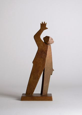 Waving Man, Bronze, 23cm High Edition of 20