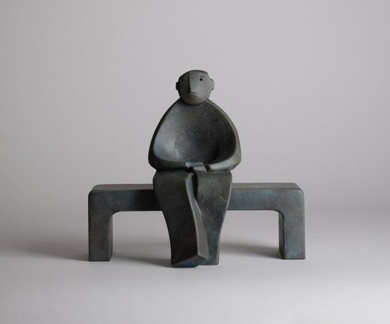 Man on Bench, Bronze, 17 cm High, Edition of 12