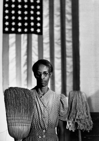 American Gothic, Washington, D.C., 1942 © Courtesy of and copyright The Gordon Parks Foundation