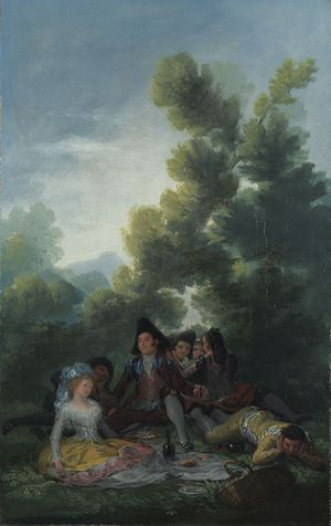 Detail from Francisco de Goya, A Picnic, 1785-90