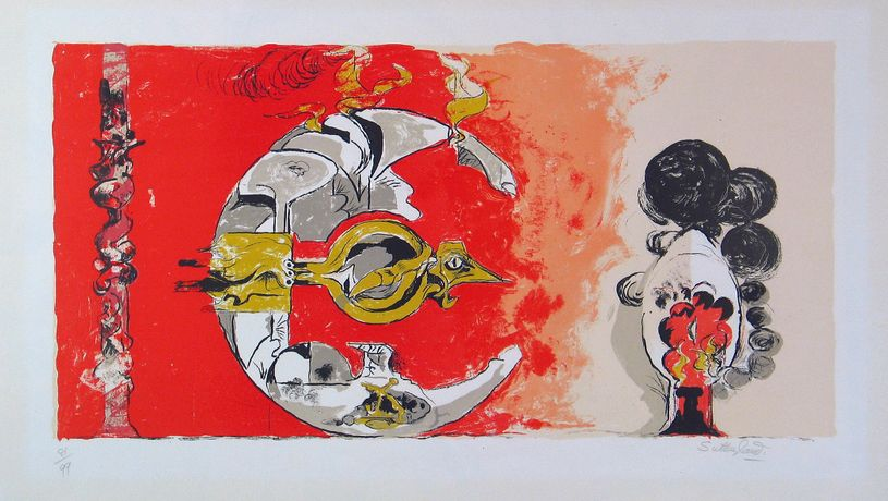 Graham Sutherland 'Fossil with Rocks and Flame' (1975) Signed Lithograph