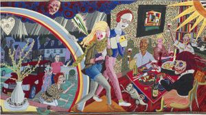 One of the featuring Grayson Perry tapestries.