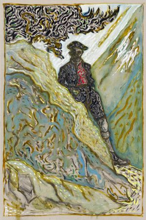 Stood behind a rock (High Atlas) by Billy Childish 2014