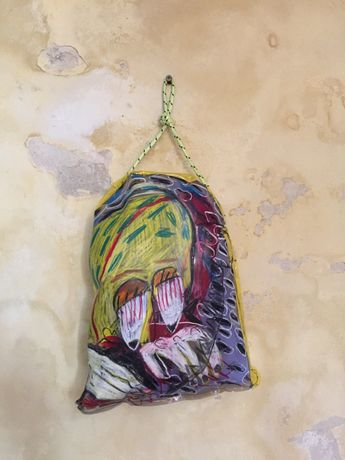 Bobby Smith. Bellmore, NY, USA. Vinyl, wax crayon, rope and polyester foam. 23,530 km.