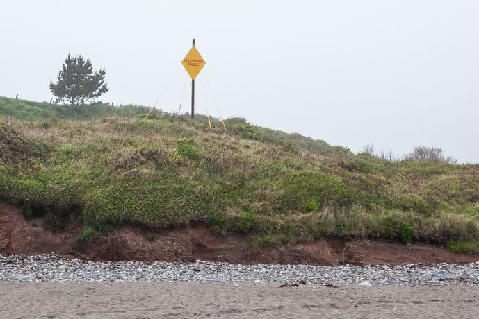 Rare Cable Marker Signage at Kennack Sands, the Lizard (2010)