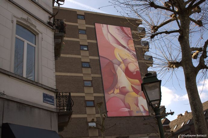 Guillaume Bottazzi's monumental painting in Brussels