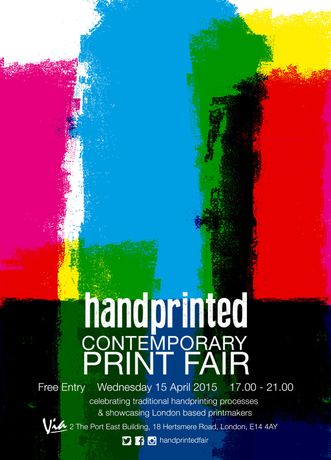 Handprinted Fair flyer