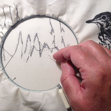 Meet the artist and textile demonstrations Nita Bruce - 'Birdsong' photo Nita Bruce