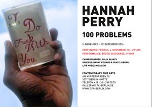 Hannah Perry. 100 Problems