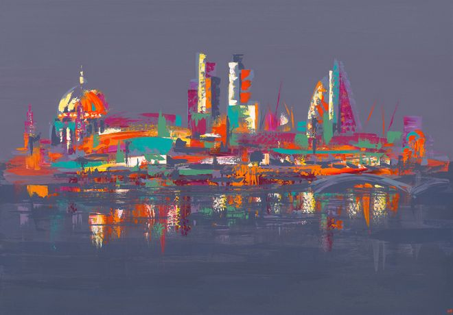 """THE THAMES"" by Hannah van Bergen"