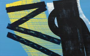 Hans Hartung,T1975-H37, 1975,  acrylic on canvas, 81 x 130 cm. Courtesy Mazzoleni, London-Torino