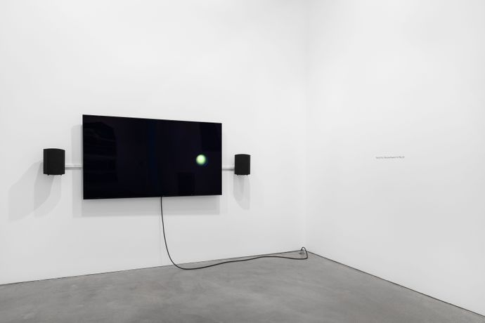 Installation view of Haptic Feedback, Carolyn Lazard and Maria Loboda, Galerie Thomas Schulte, 2020. Photo: Stefan Haehnel