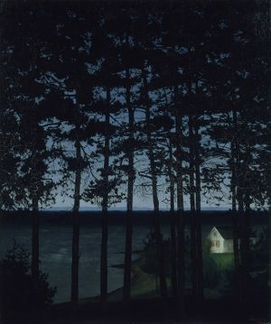 Harald Sohlberg, Fisherman's Cottage, 1906, Art Institute of Chicago, Gift of Edward Byron Smith.