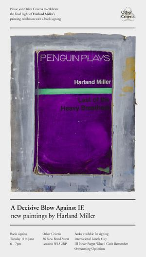 Harland Miller - Book Signing