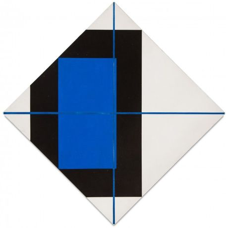 Hone, 1988 Acrylic and ground glass on canvas 65 x 65 inches (165.1 x 165.1 cm)