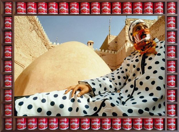 Dotted Peace, 2000 by Hassan Hajjaj © Hassan Hajjaj courtesy of the artist and New Art Exchange