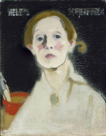 Self-Portrait, Black Background, 1915, oil on canvas,  Herman and Elisabeth Hallonblad Collection, Ateneum Art Museum, Finnish National Gallery/Hannu Aaltonen