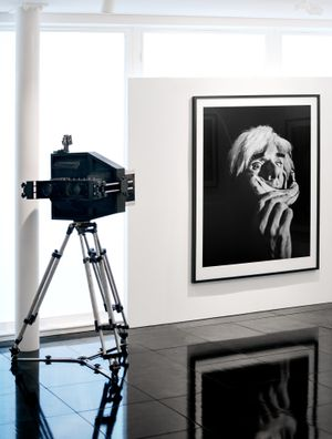 Andy Warhol, New york, 1986. + Alastair Thain's custom built large format camera