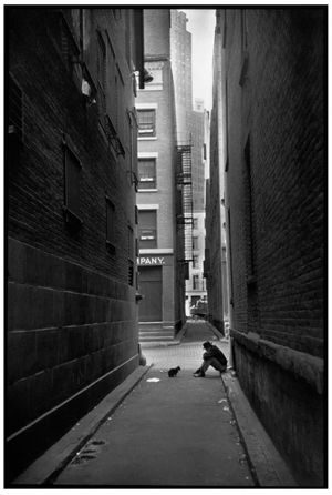 Henri Cartier-Bresson, The Decisive Moment (Simon & Schuster, 1952), p. 57, Downtown, Manhattan, New York, United States, 1947. © Henri Cartier-Bresson/Magnum Photos.