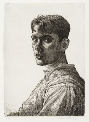 Edgar A. Holloway, Self Portrait, 1932