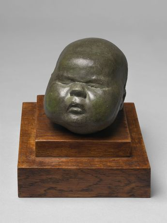 Baby's Head, 1926, Cast concrete, unique, ref. LH/35, 10.16 x 10.16 x 15.24 cms (4 x 4 x 6 in). Courtesy Osborne Samuel Gallery.