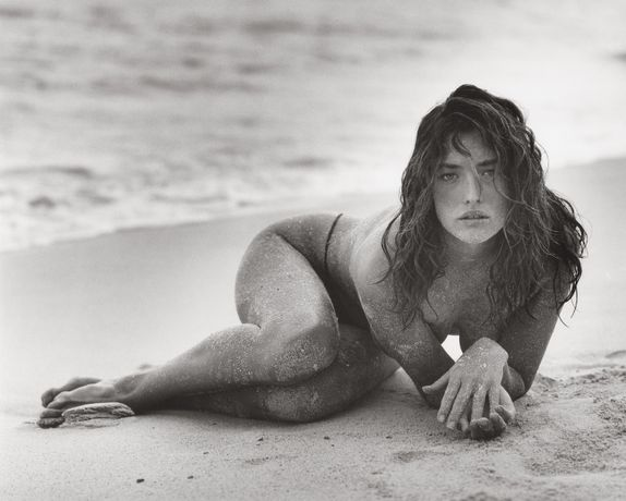 Tatjana in Sand (B), St Barthelemy, 1987 © Herb Ritts Foundation