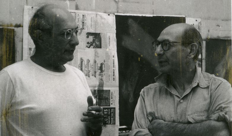 (detail) Mark Rothko and Herbert Ferber, 1947. © The Estate of Herbert Ferber, New York. Courtesy of Waqas Wajahat