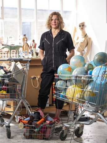 Artist Susan Stockwell at her studio_Photo credit Jonathan Turner