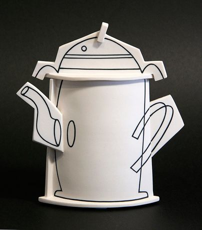 Paper Coffee, Inlaid Porcelain by Nicholas Homoky