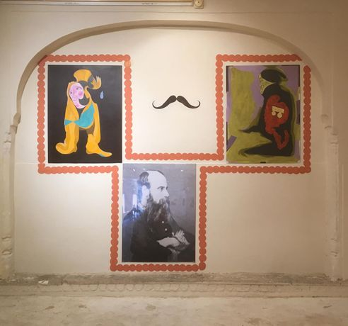 Installation view with Moustache