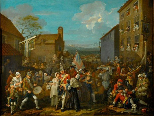 William Hogarth, The March of the Guards to Finchley, 1750 © The Foundling Museum