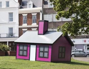 Richard Woods, Holiday Home, commissioned by the Creative Foundation for Folkestone Triennial 2017. Image by Thierry Bal.