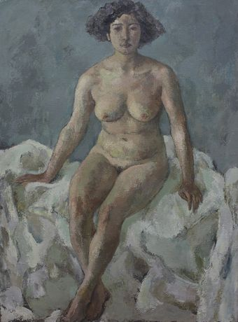 Hong Ling, Figure 7, 1986, Oil on canvas, 130 x 97 cm, Collection of the artist