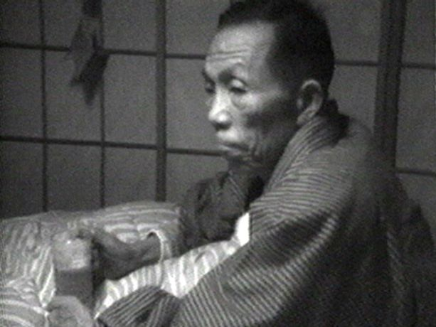 Shigeko Kubota, My Father, 1973-75, black & white video with sounds, 15 minutes 30 seconds