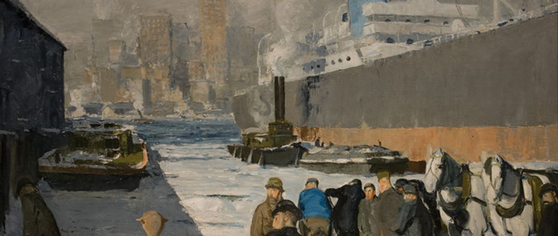 Detail from George Bellows, Men of the Docks, 1912