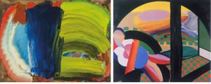 Images left to right: Howard Hodgkin, Letters from Bombay, 2012-14, Oil on wood, 40 x 54.9cm and Mrs Acton in Delhi, 1967-71, oil on canvas, 122 x 148cm © Howard Hodgkin. Courtesy: the artist, Gagosian and The Hepworth Wakefield