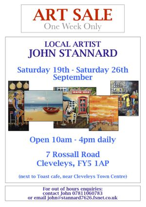 Huge Art Sale of John Stannard's work for One Week only