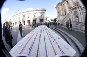 The Table of Alliance presented at the Campidoglio in Rome, Italy