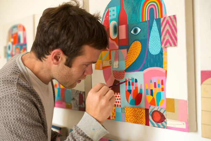 David Shillinglaw painting 'Ready For Heady Battle'