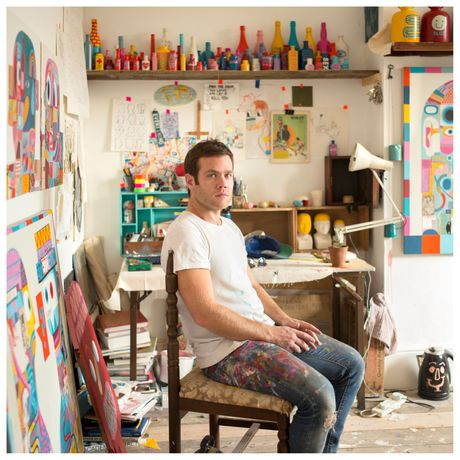David Shillinglaw in his studio